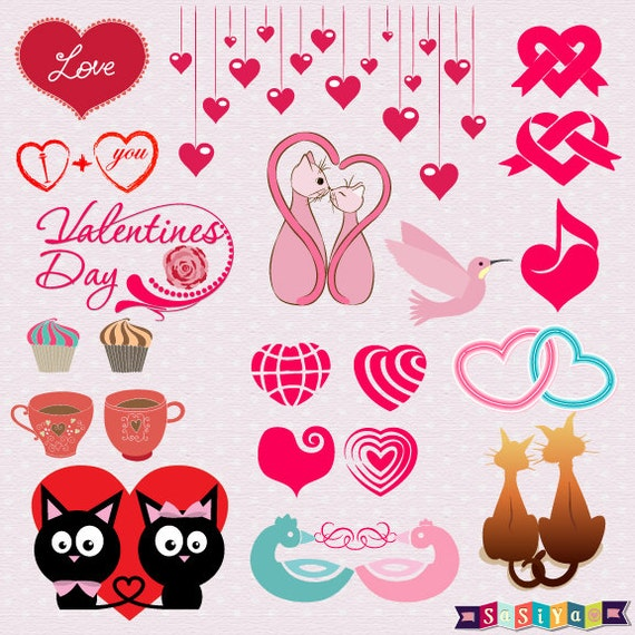I Love Cake Design Puntate Download : INSTANT DOWNLOAD Couple Love Cat Symbol Heart by SasiyaDesigns