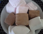 Neopolitan marshmallows chocolate strawberry vanilla candy buffet dessert table party shower wedding favors gift smores handmade confections