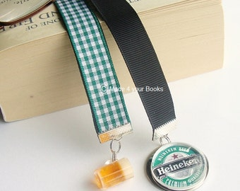 Dad's Beer ribbon bookmark