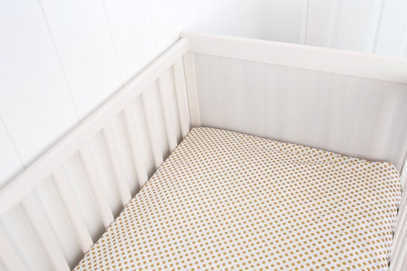 Gold Polka Dot Crib Sheet Gold Polka Dot Crib Toddler By