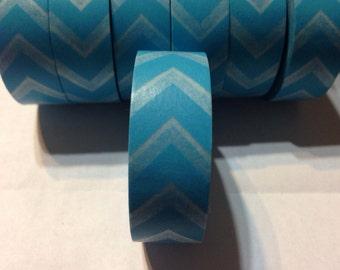 Washi Tape Blue Chevron Washi Tape