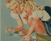 "Original Vintage WWII ""Even a Little Bit Can Help A Lot-- NOW!"" Poster"