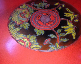 On Sale!!! Red Lacquered Antique Asian Coffee Table