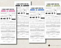 Wedding Mad Lib, Wedding Madlib, Wedding Advice Card, Newlywed Advice Card, Wedding Activity, Printable, DIY, 8 Colors (INSTANT DOWNLOAD)