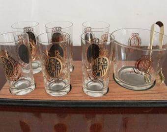 Great 1050's Retro HIGHBALL Set,Bar Set,glassware,Mint!