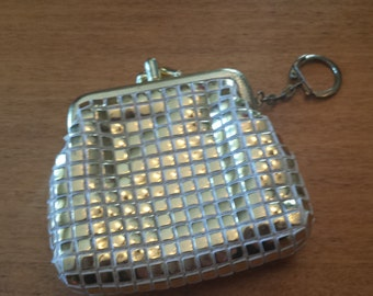 Vintage Gold square coin purse