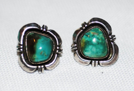 Sale fine vintage navajo etta endito sterling turquoise for C leslie smith jewelry