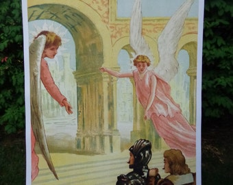 Pilgrim and Hope enter the Celestial City-18x24 inches-Large Poster