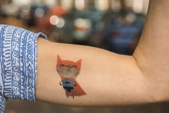 Temporary tattoo supercat for Wash off temporary tattoos