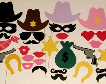 Western Photo Booth Prop 30pc Photobooth Prop Western Wedding Photo Booth Cowboy Photo Booth Prop Western Decoration Birthday Photo Booth