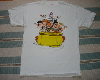 Vintage 90's Flintstones T shirt, size Large 1995 dead stock Hanna Barbera