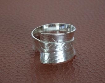 R123  Fine Silver Wrap Ring