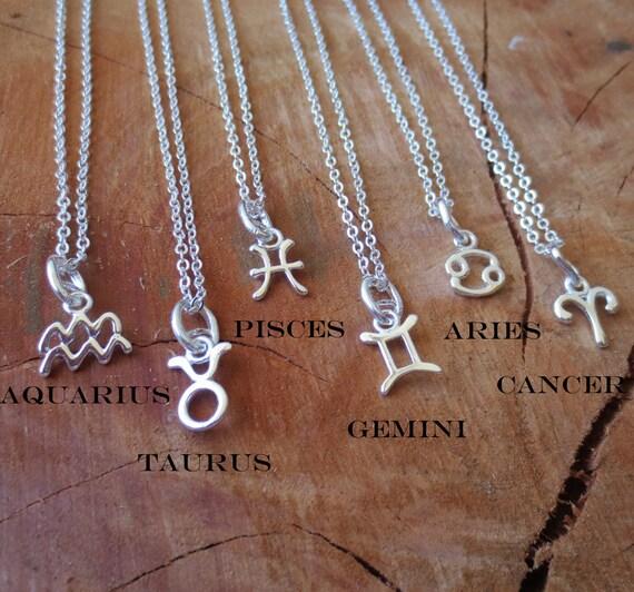 Taurus Constellation Necklace: Zodiac Necklace/Constellation Pendant/Aquarius/