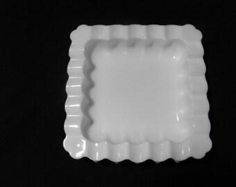 Hobnail Milkglass Ashtray