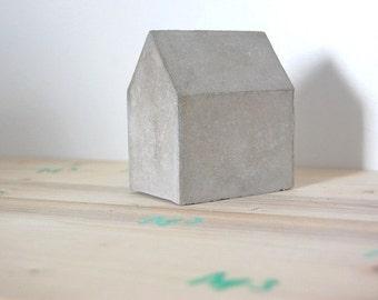 Decorative concrete hut