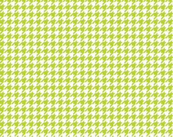 Lime houndstooth craft  vinyl sheet - HTV or Adhesive Vinyl -  lime green and white pattern vinyl  HTV415