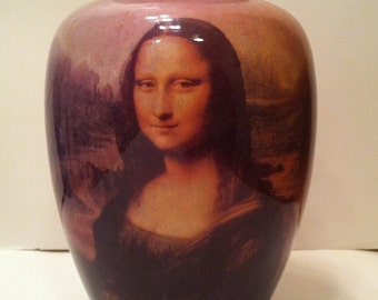 Mona Lisa Pottery Vase