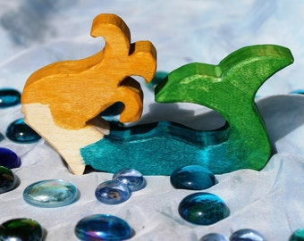 Thoughtful Wooden Mermaid Toy - Natural Eco Friendly Waldorf Wood Toy