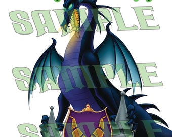 Maleficent Dragon Form The Circle Of Villains Member Name Badge