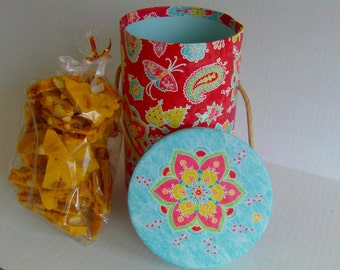 Uncle Jamie's Peanut Brittle-Handmade in Aroostook County Maine- Gift Box Perfect For ANYONE WIth a Sweet Tooth!
