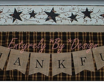 THANKFUL - Burlap Banner/Bunting -Thanksgiving Holiday -  Photo Prop - Rustic Country