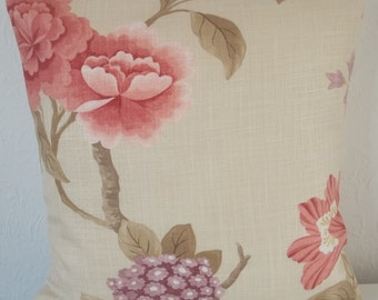 "Linwood PONDICHERRY fabric cushion cover, pillow cover, 16"" x 16"" (41cm x 41cm)"