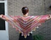 Pink Delight Shawlette ~ Crochet pattern