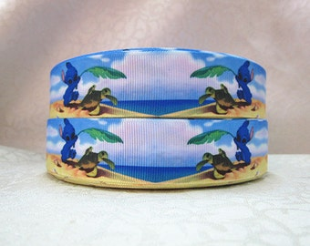5 YDS Stitch and Sea Turtle Ribbon