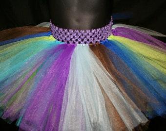 Peacock Tutu, Children's Tutu Skirts, Newborn to 6T Tutus, Peacock Tutu, Peacock Tutu Skirt, Colourful Tutu Skirt