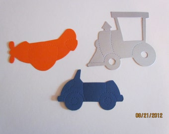 planes, trains and automobiles die cuts