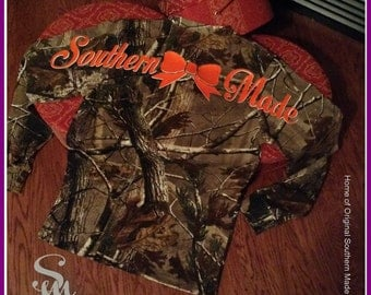 Southern Made Realtree Long Sleeve Explorer 100% Cotton T-Shirt with Pocket