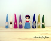 Snow White and the Dwarfs - needle felted -  Puppet Play -  Storytelling - Waldorf inspiration