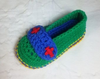Crochet Pattern * Airport  Shoes for boys * Babies and Toddlers * PDF * Double Sole  * Instant Download Pattern # 433