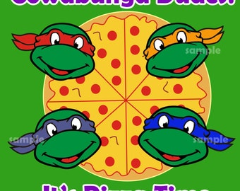 TMNT Pizza boxes lable, TMNT birthday Pizza boxes lable ...