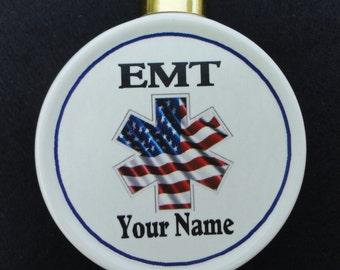 Custom EMT Ornament *Personalized* Christmas, Holiday, Paramedic, EMS, Memorial, Pet