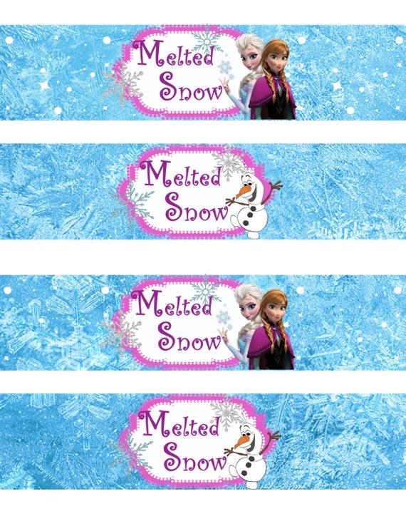 Instant Download!! Frozen Water Bottle Wrappers JPEG 300 dpi Printable ...