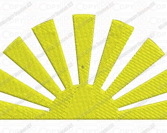 Sunrise Embroidery Design in 2x2 3x3 4x4 and 5x7 Sizes
