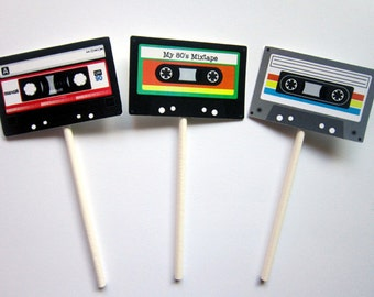 Cassette Tape Cupcake Toppers