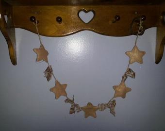Star Christmas Garland 3ft