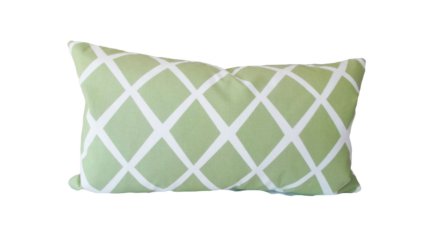 Green Throw Pillows Etsy : Serena and Lily Green Trellis Decorative Pillow Cover Throw