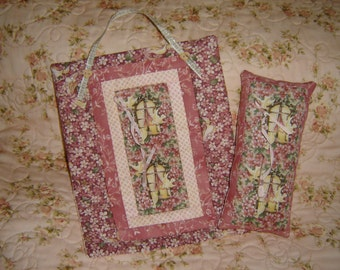 Mini Quilt and Pillow Set Sweet Print