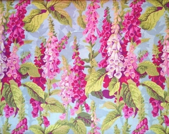 FOXGLOVES  SPRING  PJ010 Phillip Jacobs Kaffe Fassett Collectives sold in 1/2 yd increments