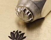 LOTUS Flower Metal Design Stamp 6 mm ImpressArt Yoga Meditation Stamp