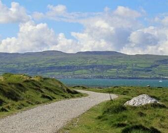 Ireland Photography, Irish Art Print, Ireland Landscape, Home Decor, Ocean, Pathway, Green - Antrim's Glen