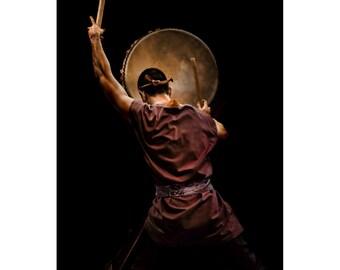 Taiko Drummer, Japanese Drum, Performance, Performer, Japan, Oriental,  Fine Art Photography, 5x7, 8x10, 11x14