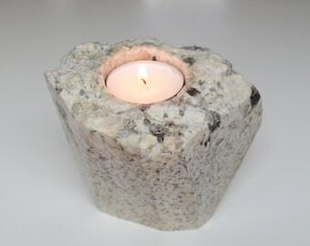 Quartzite Granite Candleholder Stone Tea Light Holder Stone Tea Light Holder Geometric Polished Rock Candle Holder Stone Accessory