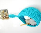 Crochet Hanging Basket T-shirt  Zpagetti Yarn in Light Turquoise - Aqua , Medium Size