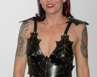 Woman S Artemis Leather Armor Breastplate By Leatherboundarmor