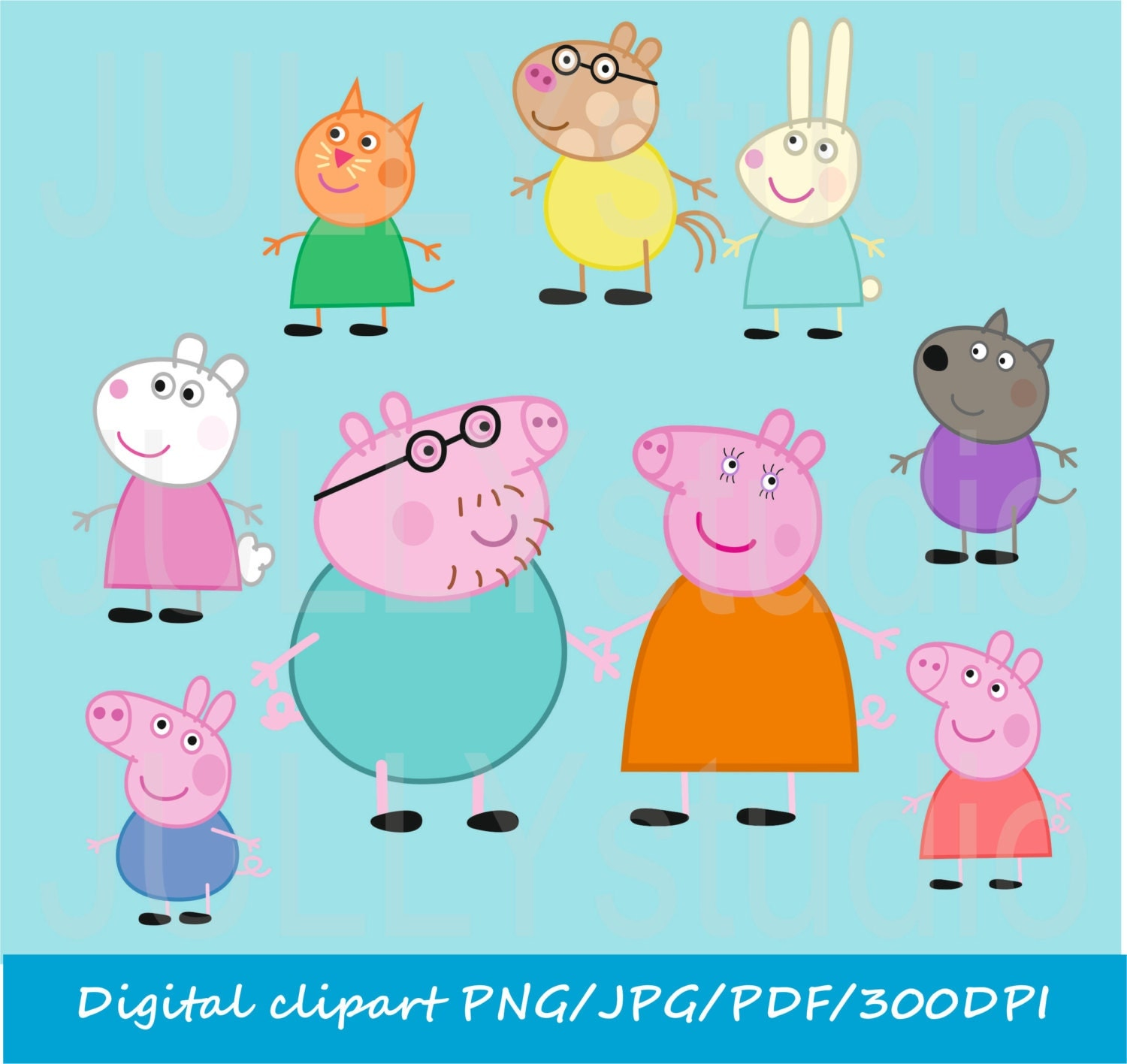 Peppa Pig Friends Digital peppa pig clip art