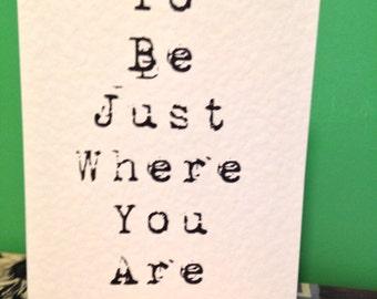 Minnetonka Song Lyric Greeting card